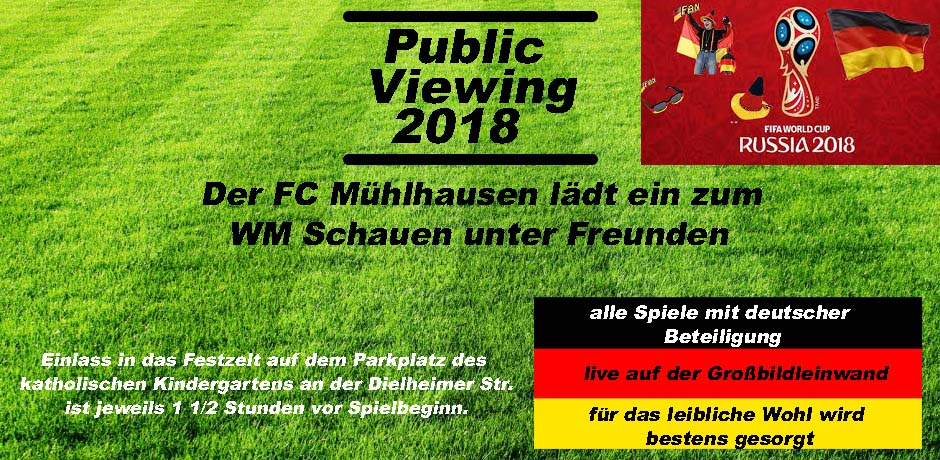 Ank�ndigung Public Viewing